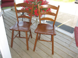 *** REDUCED ***  Two Vilas Rock Maple Chairs (1960's)