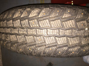 New studded winter tires and rims