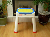 Fisher Price Storage Table with Lego Top