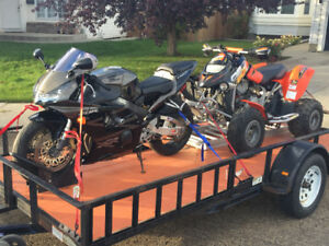 2003 CBR954RR, 2002 DS650, and Trailer Combo