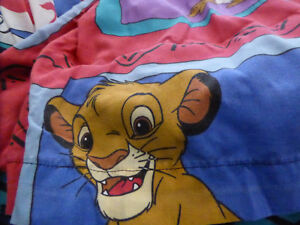 Disney's Lion King Sheet Set, Twin, 1 flat and 1 fitted