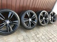 "Genuine BMW 3 4 Series 19"" 442 M Sport Alloy Wheels & Tyres F30 F31 F32 F33 F34 F36 E90 E92 Z4 Black"