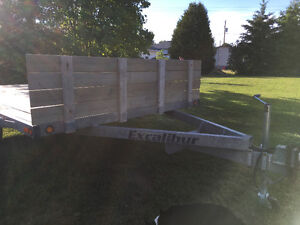 2011 8x14' Excalibur flatbed utility trailer