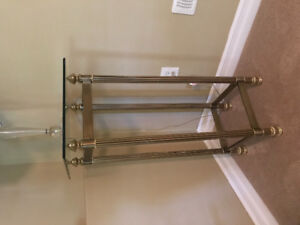 Brass color Coffee Table, End Table and Tall Table