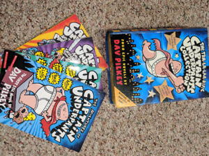 Captain Underpants - first 4 books in case with sound effects