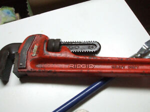 "RIDGID 24"" HEAVY DUTY PIPE WRENCH"