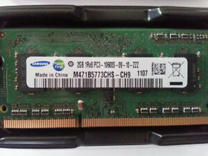2 2gb (4gb total) SO-DIMM 204pin Laptop Ram