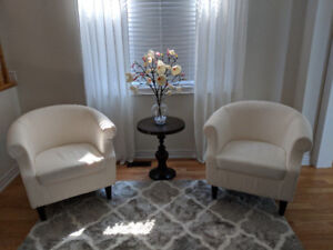 Decorative Accent Chairs ------ Brand New (Not Used)