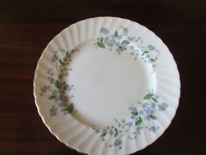 6 ADDERLY FINE BONE CHINA PLATES MADE IN ENGLAND