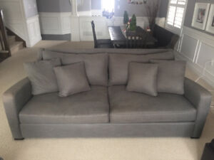 Crate and Barrel Oversized Down Filled Couch