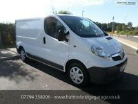 VAUXHALL VIVARO 2700 CDTI Immaculate Van F.S.H Low Miles Air Con, White, Manual,
