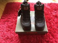 Black Leather waterproof Safety/Hiker Boots size 10 BNWT