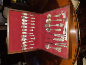 Birks Louis XV Sterling Silver Flatware 55 pcs.