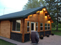 Grey Cup Accommodations Log Cabin 45 min East of Winnipeg