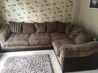 Dfs 4 seater corner sofa mocha/brown