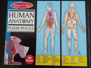 Melissa & Doug Human Anatomy 2-Sided Jumbo Jigsaw Floor Puzzle