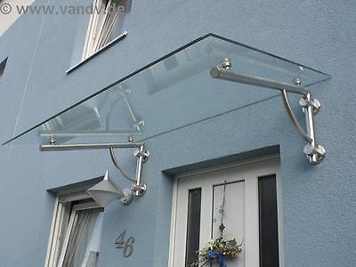 Glas Edelstahl Top (1x Vordach-TRÄGER aus Edelstahl für Vordach (ohne Glas), TOP Qualität )