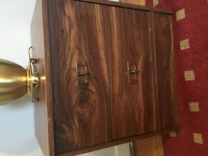 Night table with 2 drawers  in good sturdy condition