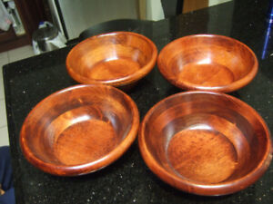 new set of 4 wooden bowls,1277