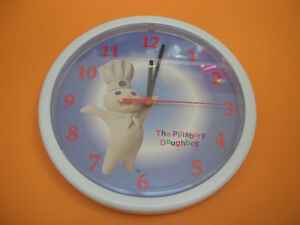 VINTAGE 1996 PILLSBURY DOUGHBOY WALL CLOCK COLLECTIBLE