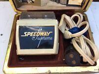 Speedway Supreme Vintage Electric Dry Shaver