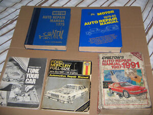 OLDER CARS,TRUCKS AUTO REPAIR MANUALS 1974-87