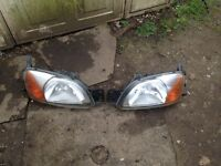 Ford Fiesta Zetec s mk 5 standard headlights£45 the pair
