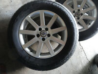 4 Summer Tires Kumho 235/65R17 with Mags Volvo XC90