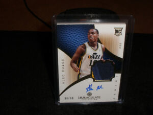 NBA BASKETBALL ALEC BURKS ROOKIE AUTO/JERSEY LOT OF 3 $25.00