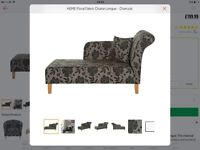 funky Floral Chaise Longue from Argos new condition