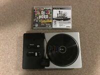 PS3 DJ Hero 1&2 + Turntable