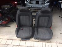 Vauxhall corsa front and bak seats