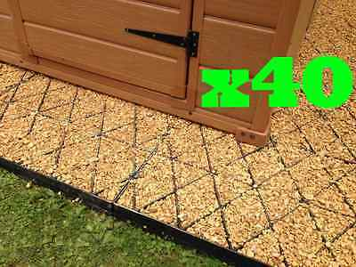 7x5.9 or 40 sq feet ECO GARDEN SHED BASE KIT + MEMBRANE GRAVEL ECO BASE GRID EM