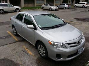 2012 Toyota Corolla Sedan- 57000kms