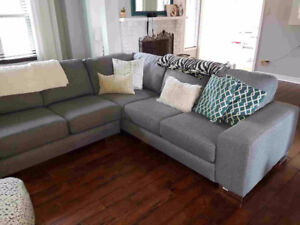 Beautiful Grey Sectional