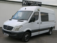 MERCEDES SPRINTER 516 MWB HIGH MINIBUS CREW CAMPER MOTORHOME BAND DAY MOTOX VAN