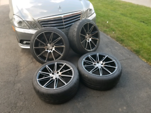 19 inch 5x112 rims and tires