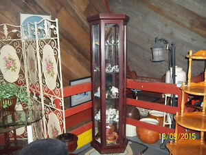 Curio Cabinet with Five Adjustable Glass Shelves