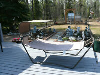 Patio furniture  and free standing fire pit