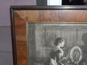 large antique1910 framed print