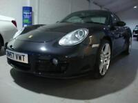 Porsche Cayman 2.7 Tiptronic S Auto, 2008MY, Black, Only 36k FSH, Hgh Spec,
