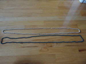 Brand new set of 2 blue and silver beaded necklace London Ontario image 5