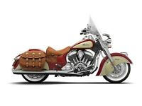 2015 Indian Chief Vintage Indian Red / Ivory Cream