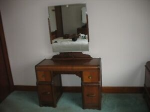 Ladies' Antique (70 years old) Vanity Dressing Table and Chair