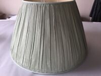 Very large soft green lampshade £5
