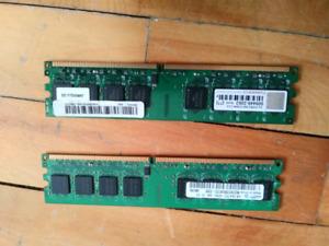 2 DESKTOP RAM MEMORY STICKS SAMSUNG ACER 5$ FOR 2