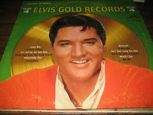 Reduced price ELVIS LP VOLUME 4 GOLD RECORDS