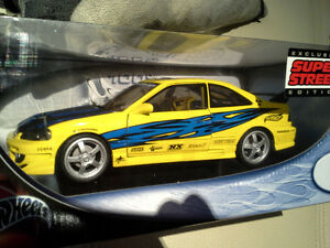 1:18 Hot Wheels Honda Civic, Mini, Porsche 911