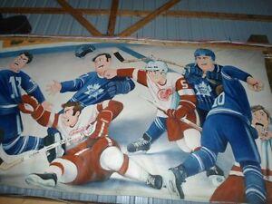 hockey paintings ,vintage memorabilia