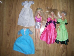 3 Barbies for sale